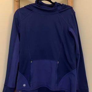 Athleta Blue Hooded Pullover